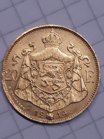 Moneda Aur 20fr 1914