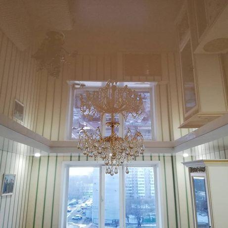 Акции! Софиты в подарок! Натяжные потолки высокого качества без запаха