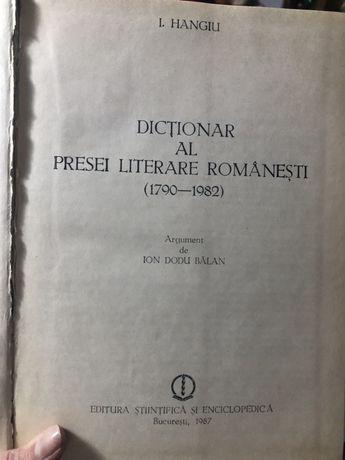 Dictionar al presei literare romanesti