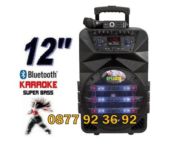 """K5-12M, 12"""" Караоке колона, активна тонколона с микрофони"""