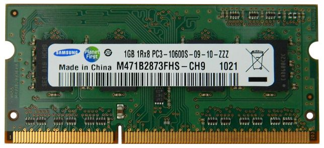 Memorie 1Gb DDR3 DDR3-10600S 204p SO-DIMM Samsung M471B2873FHS-CH9