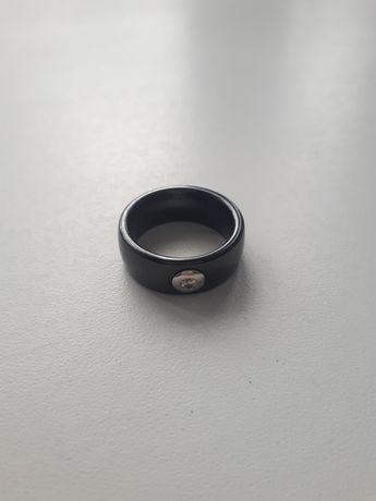 Кольцо керамика+серебро