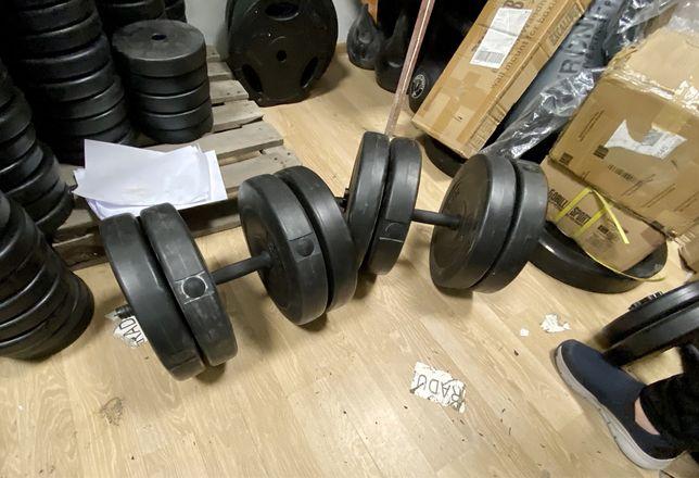 Set gantere reglabile 82 kg noi germany 40 kg+40 kg=80kg  pret 700 ron