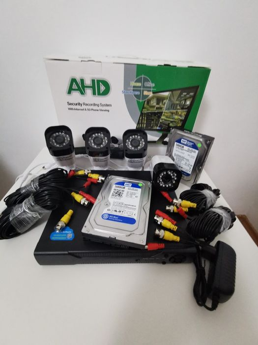 Sistem supraveghere 3Mpx 4Camere + HDD 500GB IR60M Color FullHD Bucuresti - imagine 1