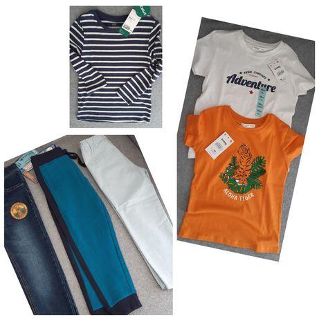 Нови дънки, панталон, спортно долнище и блузки за момче 4-6 год.