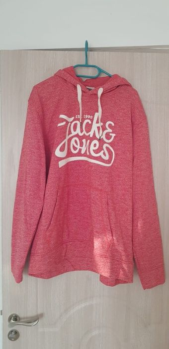 Hanorac rosu Jack & Jones XL Bucuresti - imagine 1