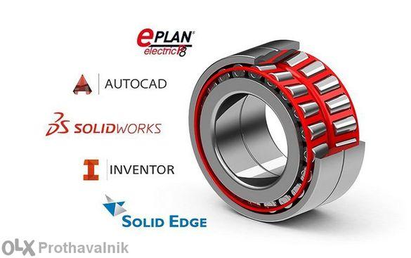 AutoCad, Solidworks щанци, шприц и пресформи, пневмоцилиндри