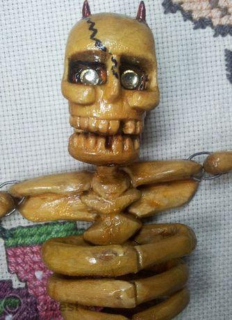 Дърворезба Скелет Подвижен, Изработен Ръчно От Дърво! Фигури от Дърво