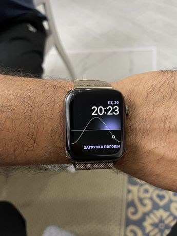 Apple watch 4 44mm stainless steel & sapphire crystal