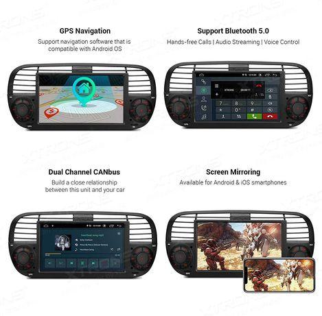 Navigatie Fiat 500, factura+garantie+transport, Android,Wi-Fi