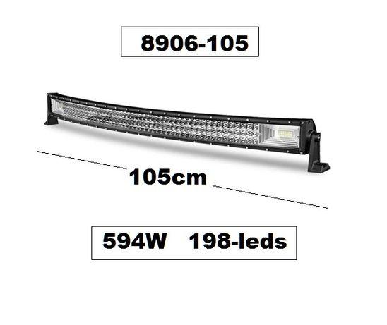 Супер мощен 7D LED BAR 105 см, 594W, ИЗВИТ, 12v/24v