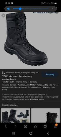 Bocanci combat Volkl German 45,piele naturală.