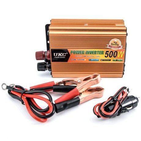 Invertor auto 24V-220V cu putere 500W, 1000W UKC, Lairun.