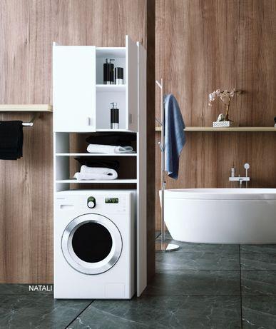 Dulap deasupra maşinei de spălat, alb, NATALI