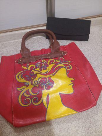 Vand geanta stil shopper +cadou geanta plic