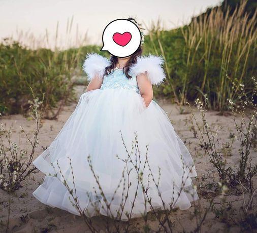 Детска рокля за 4-5 год. Рокля за кръщене, рокля за шаферка