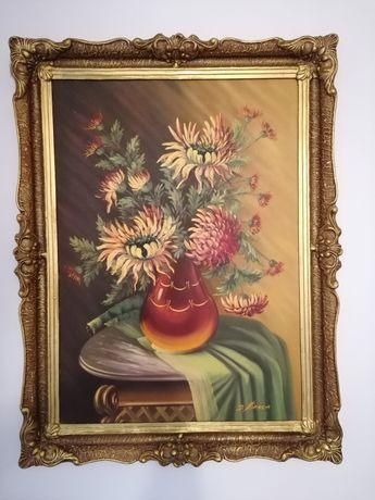 Vând tablou pictat pe panza in ulei foarte frumos