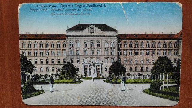 Carte postala veche - 1917 - Cazarma Regele Ferdinand I - Oradea Mare