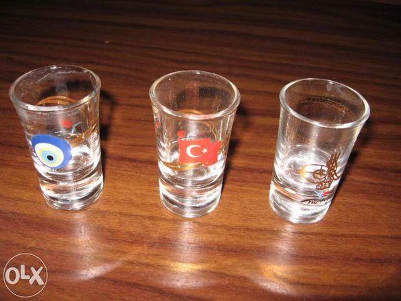 Чаши за ракия - 3 шота - спомен от лятото в Турция