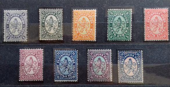 Пощенски марки 12-20 Редовни (1882-12-04) - голям лъв