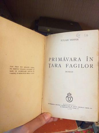 "Carte ""Primavara in tara fagilor"" - Iulian Vesper"