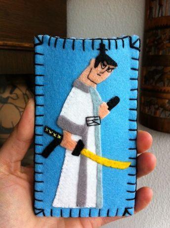 Husa protectie Telefoane, model Samurai Jack, produs handmade