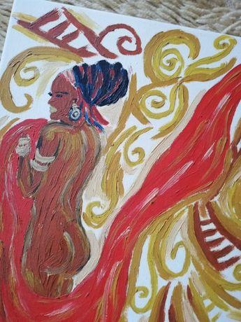 картина маслена африканка