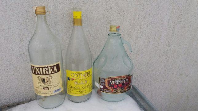 Damingene de sticle si sticle de 2 lit