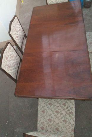 Masa+scaune lemn masiv