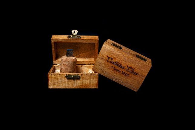 Cutii de lemn tip cufar - pentru stick