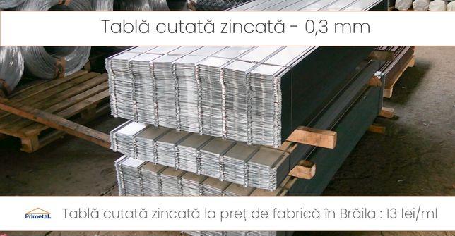 Tabla cutata grosime 0,3 mm la pret producator in Braila