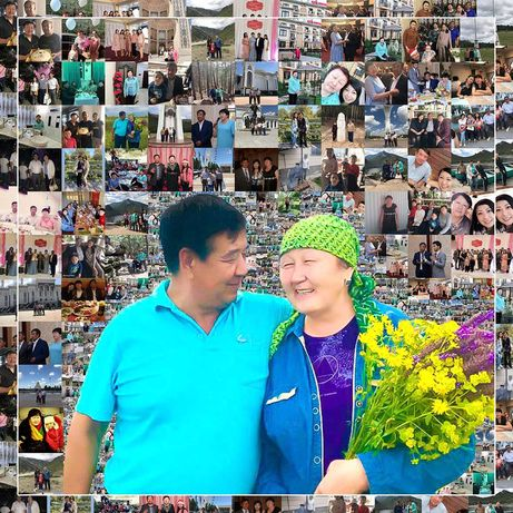 Фотомозайка/3900 мозаика/Фотообои/подарок на день рождении/фотомозаика