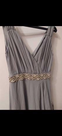 Елегантна сива рокля размер с