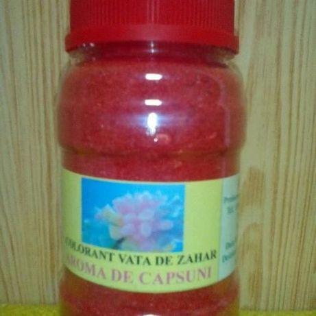 Colorant Rosu pentru Vata de zahar cu aroma de Capsuni.
