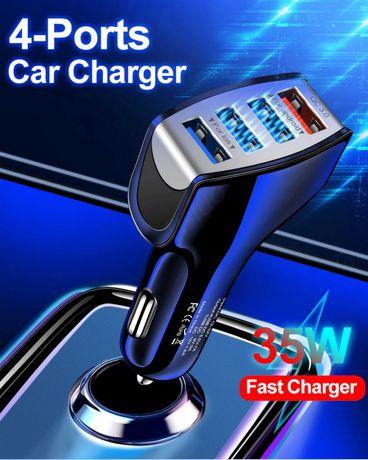 4X Usb Quick Charge-Бързо зарядно за кола за телефон-таблет и др.
