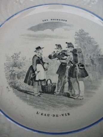 Portelan de colectie jumatatea sec. XIX Creil et Montereau , marcat