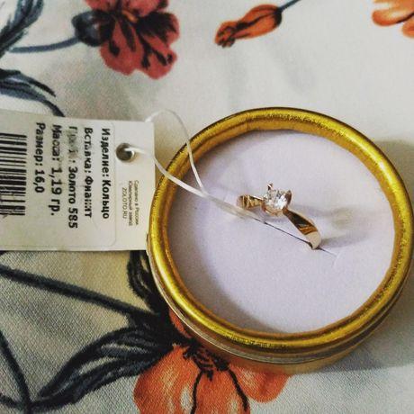 Золотое кольцо новое 16 размер