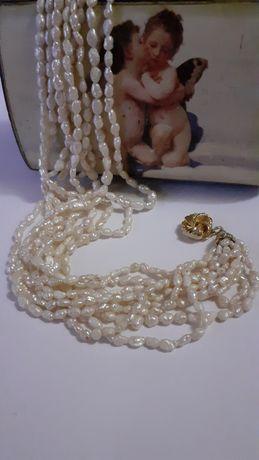 Perle naturale în 9 siruri