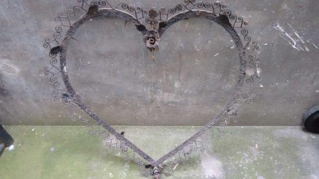 Rama Veche forma Inima Fier forjat Inaltime/latime 60cm Vintage Retro