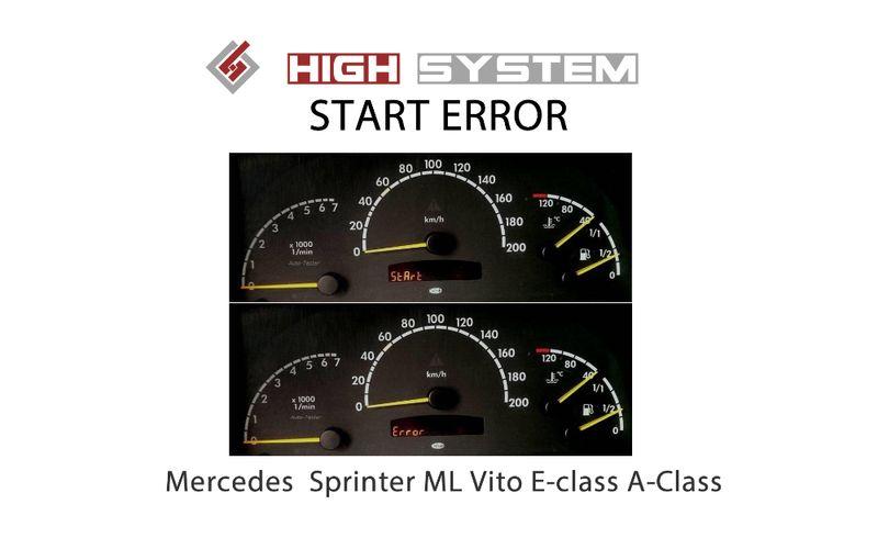 START ERROR - (Mercedes) Sprinter ML Vito E-class A-Class гр. Петрич - image 1