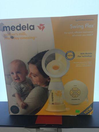 MEDELA Единична двуфазна електрическа помпа за кърма Swing Flex + 1бр.