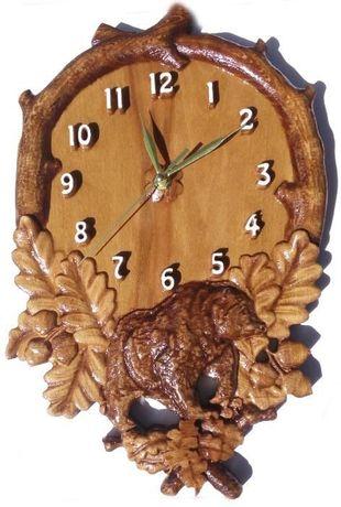 Часовници от дърво, дърворезба, за подарък , сувенир