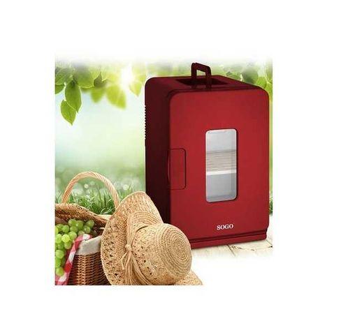 SIGILAT Mini frigider SOGO 58W 15l adaptor priza auto 12V incalzire