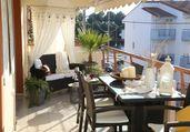 Апартамент Уют, 3 спални, 8 човека, 100м от плажа, Керамоти, Гърция