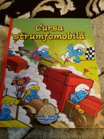 Carte copii Cursa strumfomobila