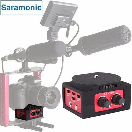 Saramonic SR-AX101 – adaptor mixer audio doua canale XLR Foto DSLR