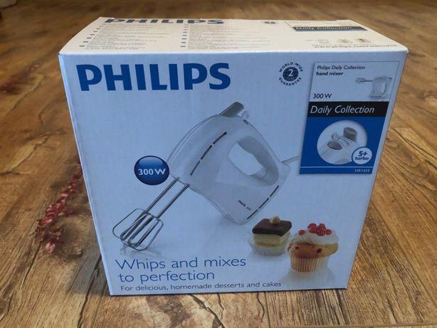 Mixer Philips HR1459/00, 300 W, 5 viteze, Functie Turbo, Alb, NOU