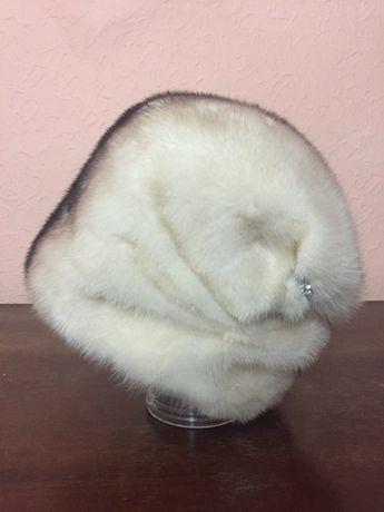 Норковая шапка стильная