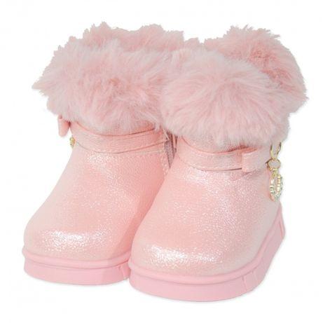 Cizme imblanite bebe | Cizme roz pudra fete | UGG copii model 2019