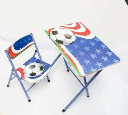 Masuta si scaunel pliabil cu desen pentru baieti